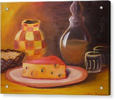 A Snack With Cheese Acrylic Print by Anna  Henderson