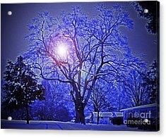 A Snow Glow Evening Acrylic Print