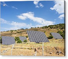 A Solar Power Station On Lesvo Acrylic Print