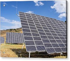 A Solar Power Station On Lesvos Acrylic Print