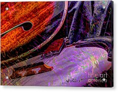 A Southern Combination Digital Banjo And Guitar Art By Steven Langston Acrylic Print by Steven Lebron Langston