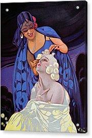 A Spanish Hairdresser Acrylic Print by Vila