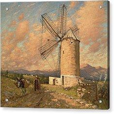A Spanish Mill Acrylic Print by Henry Herbert La Thangue