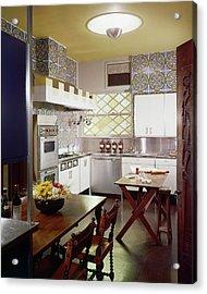 A Spanish-style Kitchen Acrylic Print