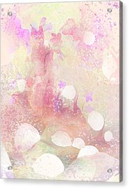 A Sparrow Sings Alone Acrylic Print by Rachel Christine Nowicki