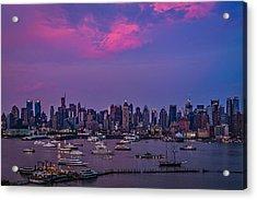 A Spectacular New York City Evening Acrylic Print by Susan Candelario