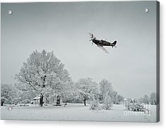 A Spitfire Winter  Acrylic Print by J Biggadike