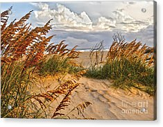 A Splendid Day At The Beach - Outer Banks Acrylic Print by Dan Carmichael