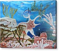 A Squid Named Sid Acrylic Print