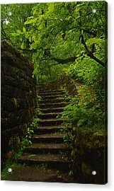 A Stairway To The Green Acrylic Print