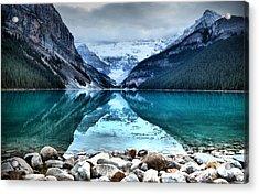 A Still Day At Lake Louise Acrylic Print