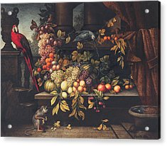 A Still Life With Fruit, Wine Cooler Acrylic Print
