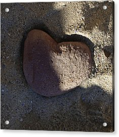 A Stone Heart Acrylic Print by Xueling Zou