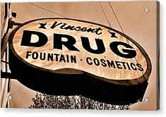 A Store For Everyone - Vintage Pharmacy Sign Acrylic Print