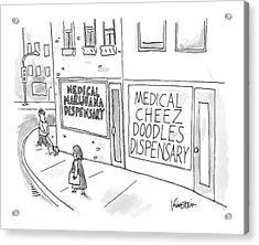 A Storefront Medical Marijuana Dispensary Acrylic Print