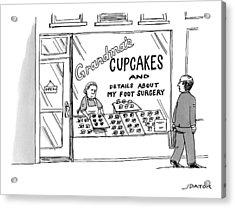 A Storefront Reads: Grandma's Cupcakes Acrylic Print by Joe Dator