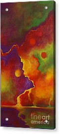 Acrylic Print featuring the painting A Storm Called Jimi by Alison Caltrider