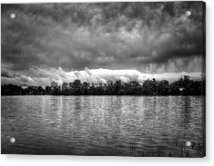 A Storm Rolls By Acrylic Print by Thomas Young