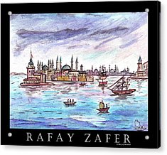 A Story Of Istanbul Acrylic Print