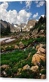 Acrylic Print featuring the photograph A Stream Runs Through It by Ronda Kimbrow