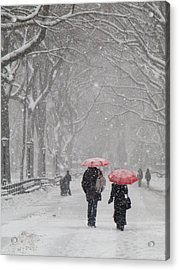 A Stroll In The Snow Acrylic Print