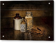 A Study In Brown Acrylic Print by Leah McDaniel