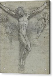 A Study Of Christ On The Cross With Two Acrylic Print by Federico Fiori Barocci or Baroccio