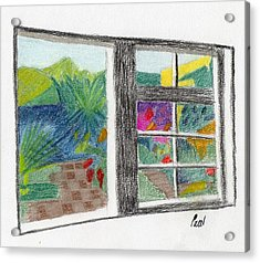 A Summer Garden Acrylic Print by Bav Patel