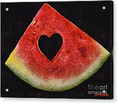 A Summer Valentine's Day Acrylic Print by Dragica  Micki Fortuna