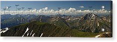 A Summit View Panorama Text Acrylic Print