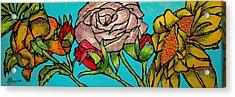A Sun Among Roses Acrylic Print