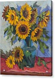 A Sunflower Day Acrylic Print