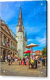A Sunny Afternoon In Jackson Square 2 Acrylic Print by Steve Harrington