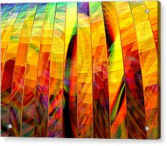 Acrylic Print featuring the digital art A Sunny Autumn Day  by Andreas Thust
