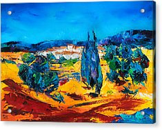 A Sunny Day In Provence Acrylic Print by Elise Palmigiani