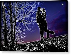 A Sunset Embrace Acrylic Print by Brian Archer