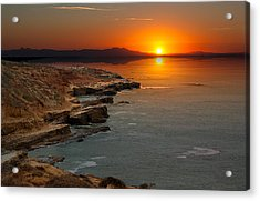 Acrylic Print featuring the photograph A Sunset by Lynn Geoffroy