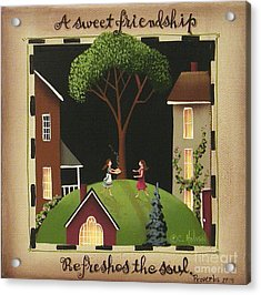 A Sweet Friendship Acrylic Print by Catherine Holman