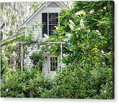 A Swell Side Entrance With Oakleaf Hydrangea Acrylic Print