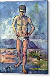 A Swimmer By Cezanne Acrylic Print by John Peter