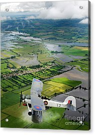Acrylic Print featuring the photograph A Swordfish Aircraft With The Royal Navy Historic Flight. by Paul Fearn