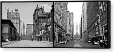 A Tail Of Two Cities - South Broad Then And Now Acrylic Print by Bill Cannon