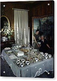 A Tea Service Acrylic Print by John Rawlings