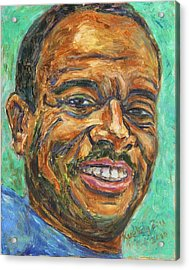 Acrylic Print featuring the painting A Teacher From Atlanta Ga by Xueling Zou