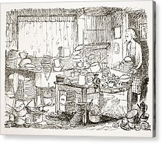 A Tendency To Leave The Washing-up Till Acrylic Print by Pont