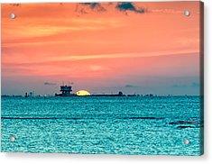 A Texas Sunset Acrylic Print
