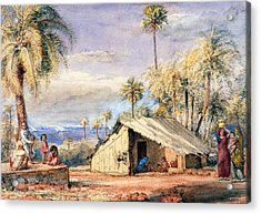 A Toddy-drawers Hut In A Grove Of Date Acrylic Print