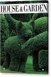 A Topiary Bear In Alice Braytons Green Animals Acrylic Print