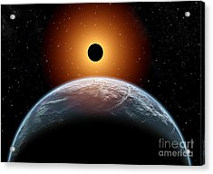 A Total Eclipse Of The Sun As Seen Acrylic Print by Mark Stevenson
