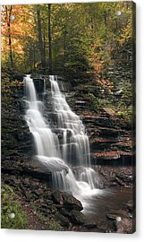 A Touch Of Autumn At Erie Falls Acrylic Print